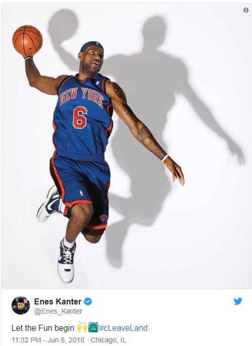 LeBron Knicks